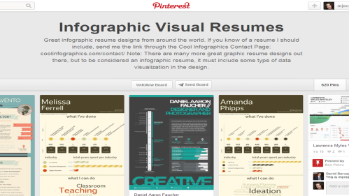 Resume Design: Check out Pinterest